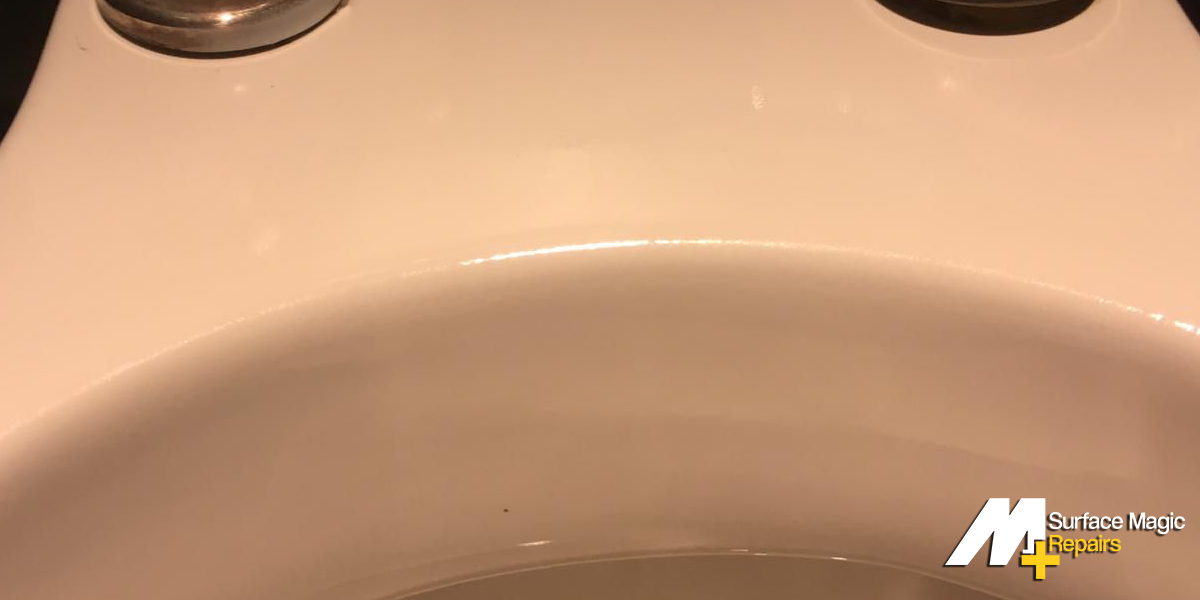 Fixed toilet after repair