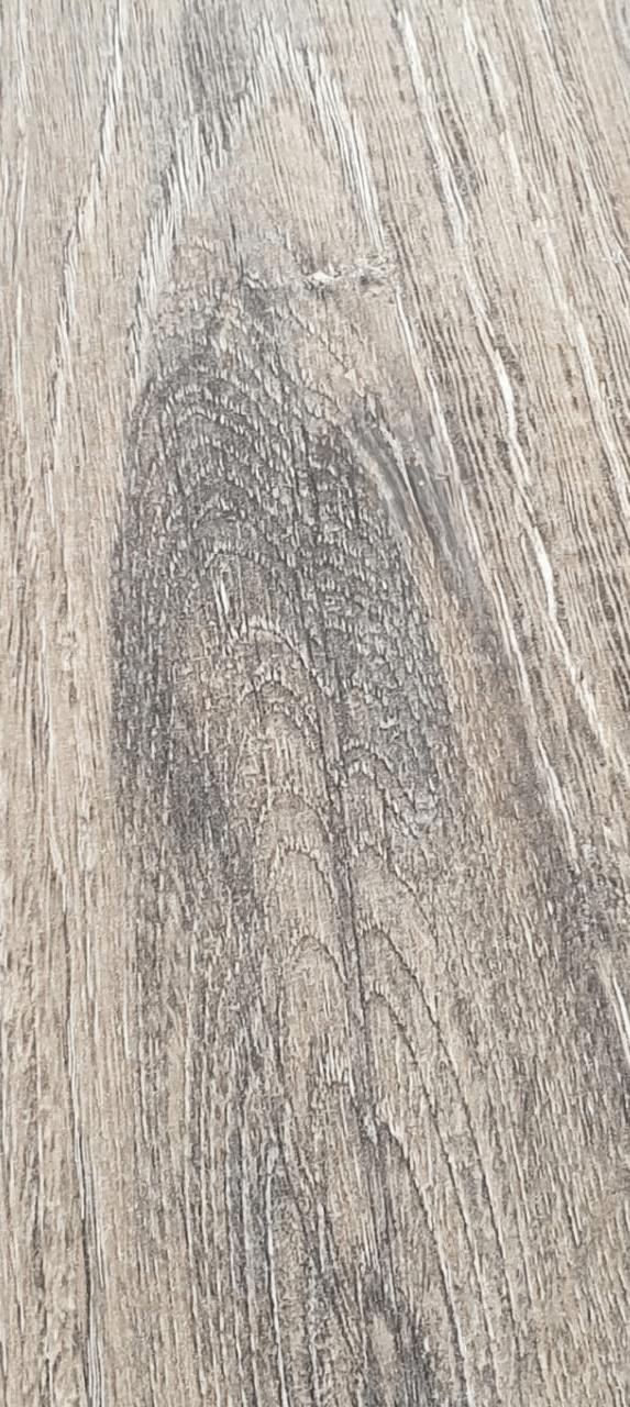 After of repaired damaged wood surface.