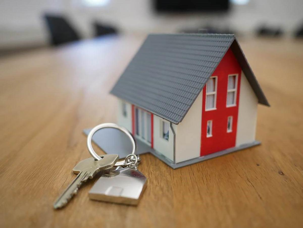 House on a key chain.